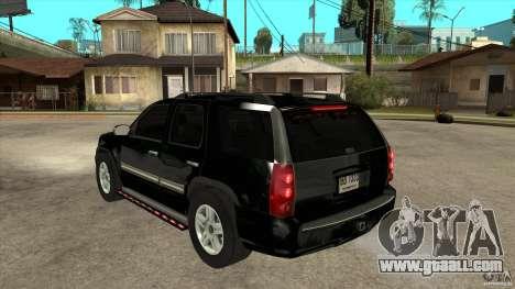 GMC Yukon Unmarked FBI for GTA San Andreas back left view
