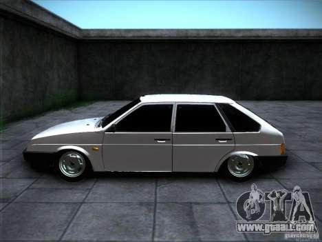 VAZ 2109 Rostov for GTA San Andreas back view
