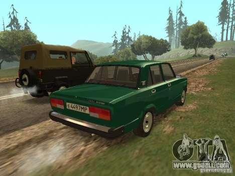 VAZ 2107 1988 for GTA San Andreas back left view