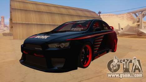 Mitsubishi Lancer Evolution X Pro Street for GTA San Andreas