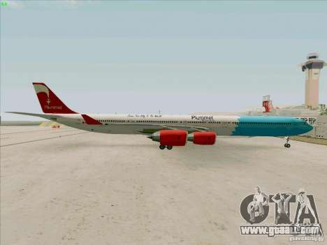 Airbus A-340-600 Plummet for GTA San Andreas right view