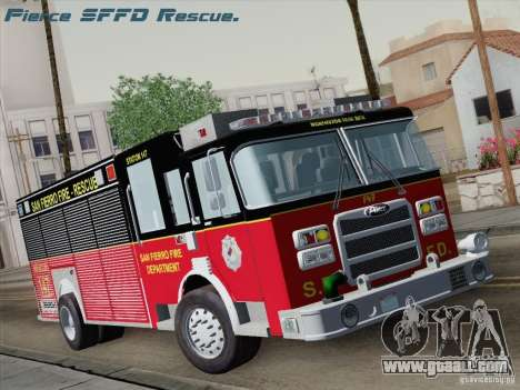 Pierce SFFD Rescue for GTA San Andreas