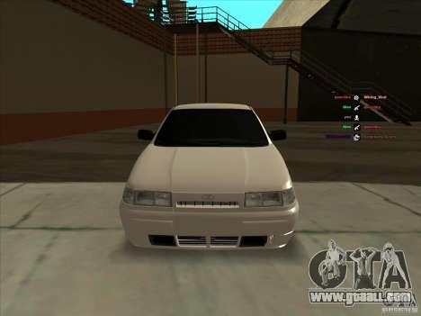VAZ-2112 for GTA San Andreas inner view