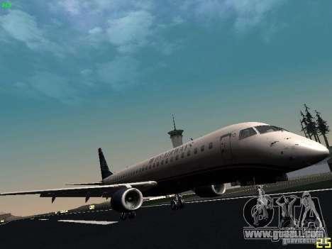 Embraer ERJ 190 USAirways for GTA San Andreas left view