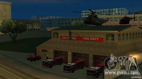 Revival fire station in San Fierro v 2.0 Final for GTA San Andreas