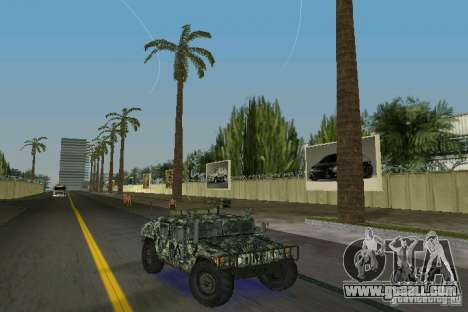 Hummer HMMWV M-998 1984 for GTA Vice City back view
