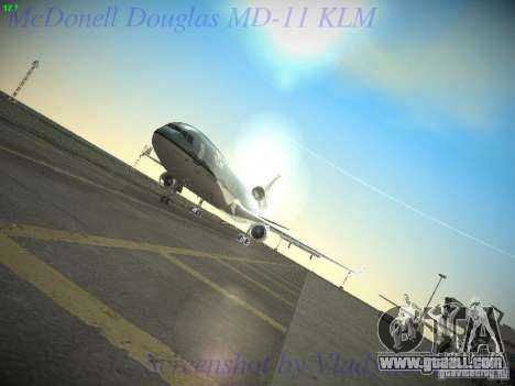 McDonnell Douglas MD-11 KLM Royal Dutch Airlines for GTA San Andreas side view