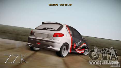 Peugeot 206 Shark Edition for GTA San Andreas left view