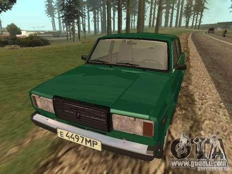 VAZ 2107 1988 for GTA San Andreas