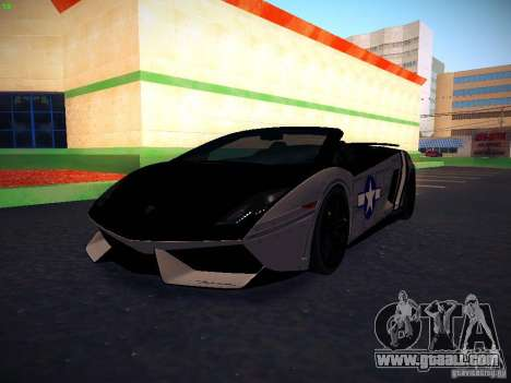 Lamborghini Gallardo LP570-4 Spyder Performante for GTA San Andreas upper view