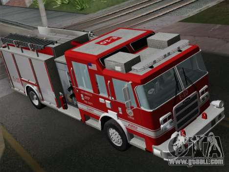 Pierce Saber LAFD Engine 10 for GTA San Andreas back view