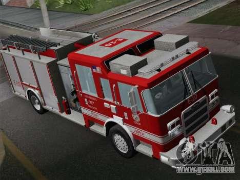 Pierce Saber LAFD Engine 10 for GTA San Andreas
