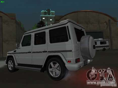 Mercedes-Benz Galendewagen G500 for GTA San Andreas back left view