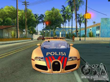 Bugatti Veyron Indonesian Police for GTA San Andreas back left view