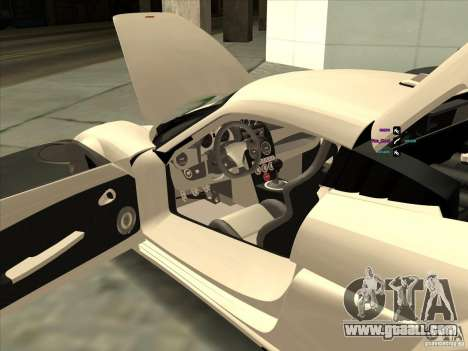 Noble M600 for GTA San Andreas inner view