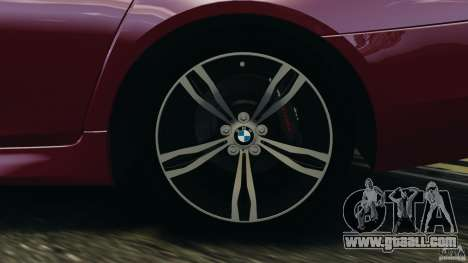 BMW M5 2012 for GTA 4 interior