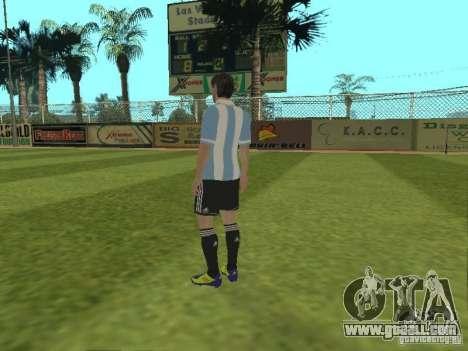 Lionel Messi for GTA San Andreas third screenshot