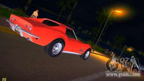 Chevrolet Corvette (C3) Stingray T-Top 1969 for GTA Vice City side view