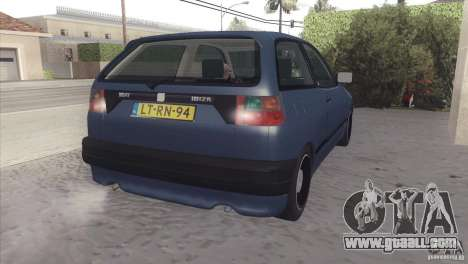 Seat Ibiza GLXI 1.4 1994 for GTA San Andreas back view