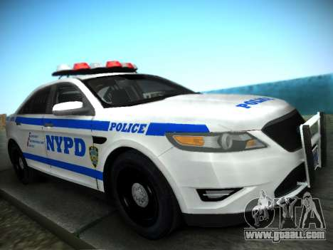 Ford Taurus NYPD 2011 for GTA San Andreas back left view