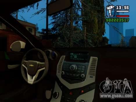 Chevrolet Cruze for GTA San Andreas upper view