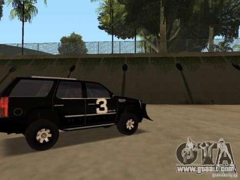 Cadillac Escalade Tallahassee for GTA San Andreas left view