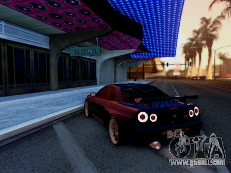 Nissan Skyline BNR34 GT-R for GTA San Andreas left view