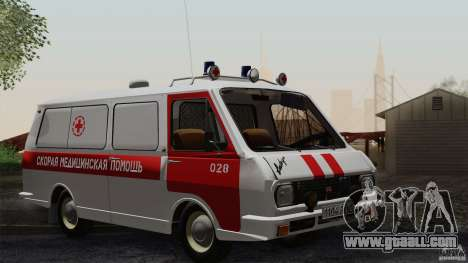 RAF 22031 Latvija ambulance for GTA San Andreas upper view