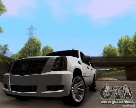 Cadillac Escalade ESV Platinum 2013 for GTA San Andreas left view