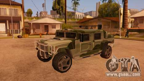 HD Patriot for GTA San Andreas upper view