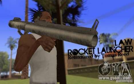 LAW Rocket Launcher Retextured for GTA San Andreas third screenshot