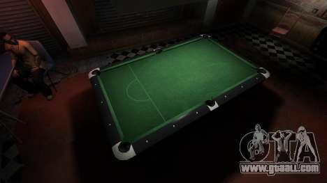 Superior billiard table in the bar 8 balls for GTA 4