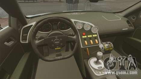 Audi R8 Spider Body Kit for GTA 4 inner view