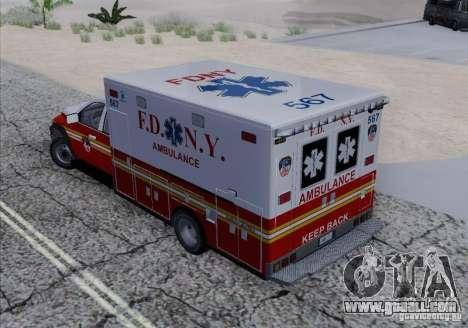 Dodge Ram Ambulance for GTA San Andreas inner view