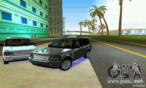 Land Rover Range Rover Supercharged 2008 for GTA Vice City bottom view