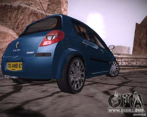 Renault Clio III for GTA San Andreas back left view