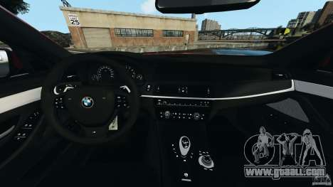 BMW M5 2012 for GTA 4 back view