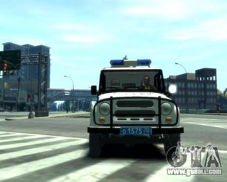 UAZ 31512 Police for GTA 4 left view