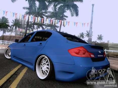 Infiniti G37 Sedan for GTA San Andreas