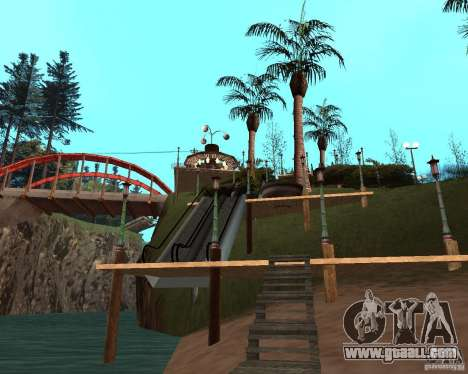 Villa in the fishing lagoon for GTA San Andreas ninth screenshot