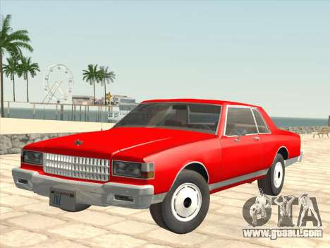 Chevrolet Caprice 1986 for GTA San Andreas side view