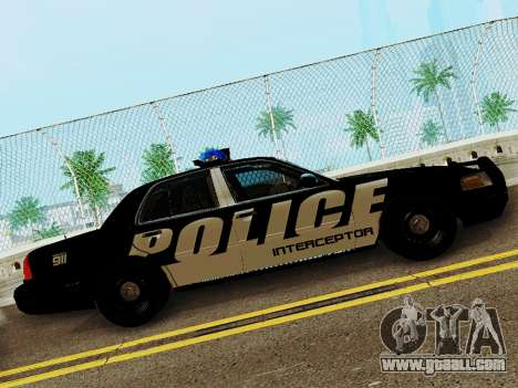 Ford Crown Victoria Police Interceptor 2011 for GTA San Andreas left view