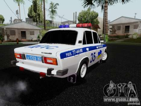VAZ 2106 Police for GTA San Andreas left view