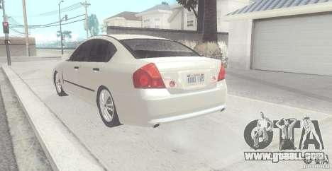 Infiniti M35 for GTA San Andreas back left view