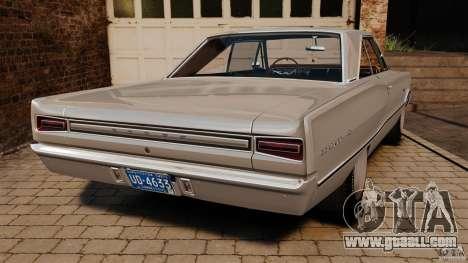 Dodge Coronet 1967 for GTA 4 back left view