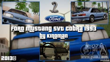 Ford Mustang SVT Cobra 1993 for GTA San Andreas