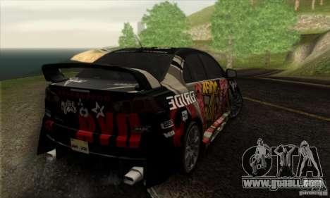 Mitsubishi Lancer Evolution X 2008 for GTA San Andreas engine