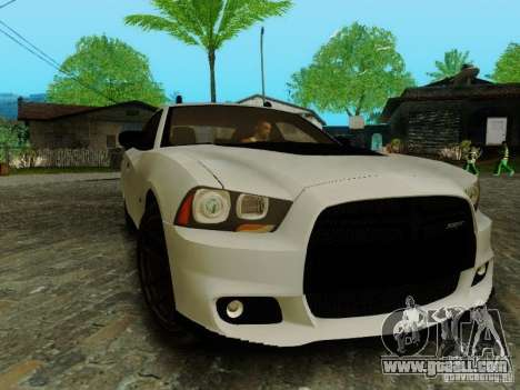 Dodge Charger SRT8 2012 for GTA San Andreas back view