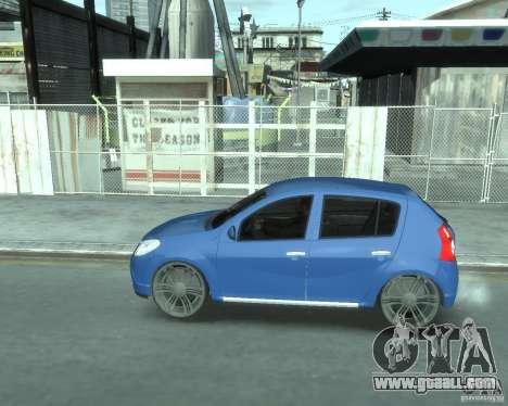 Renault Sandero v1.0 for GTA 4 back left view