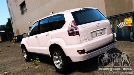 Toyota Land Cruiser Prado for GTA 4 left view